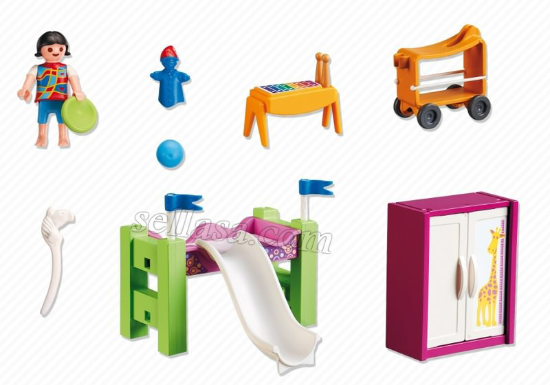 اتاق کودک ( children 's room with loft bed )